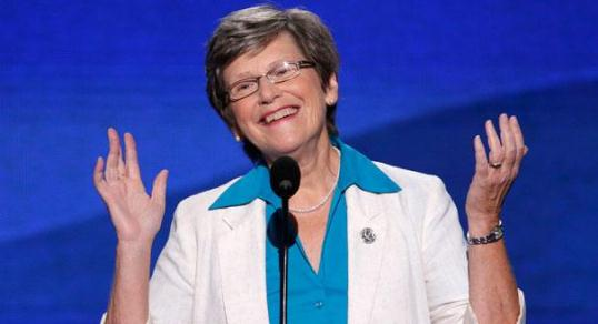 Sister Simone Campbell speaks at the DNC