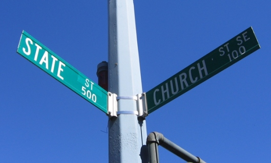 Church and state sign