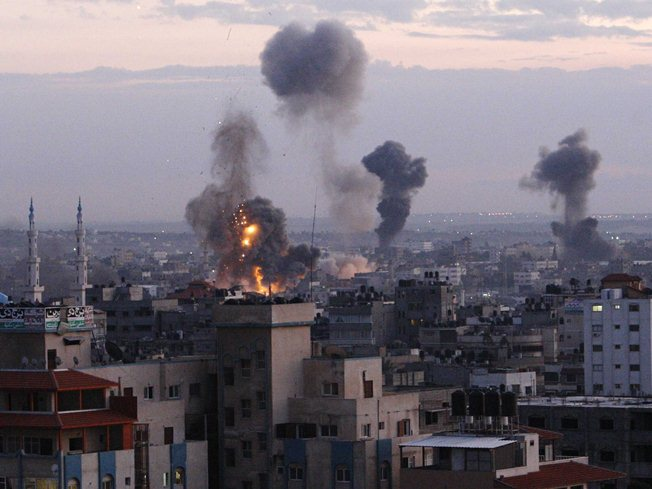 Gaza air strikes