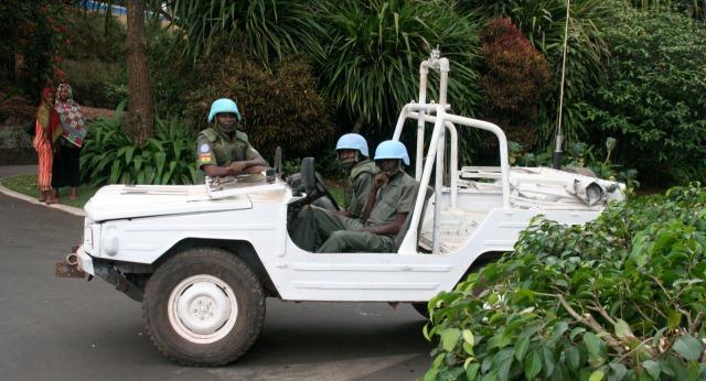 United Nations Peacekeepers in Kigali Rwanda