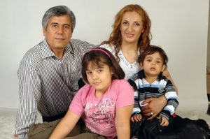 Pastor Benham Irani with his family.