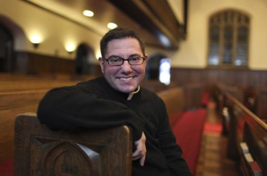 Shannon Kearns was recently ordained in the North American Old Catholic Church, a small liberal denomination that follows some of the practices of the Roman Catholic Church, but is not connected with it. (Photo: David Joles/Minneapolis Star Tribune)