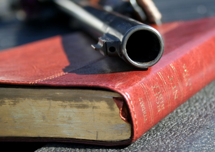 Gun on the Bible
