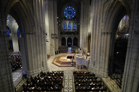 The National Cathedral has mostly been known for hosting funerals, such as former President Gerald Ford. (photo: Daniel R. DeCook, Wikimedia Commons)