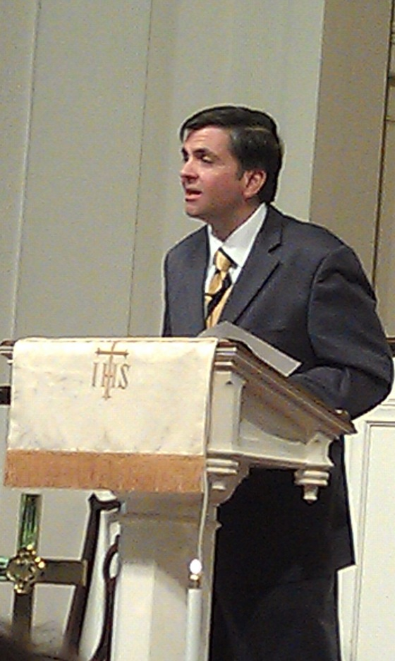 Mark Tooley speaking at Fort Valley United Methodist Church_130107