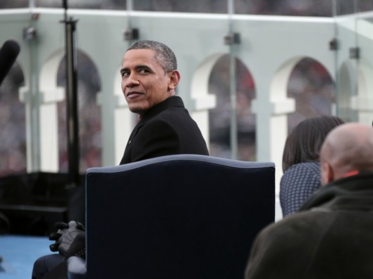 President Obama at 2013 inauguration ceremony
