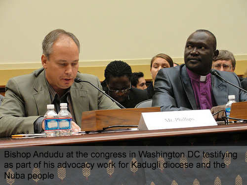 Andudu testifying before Congress