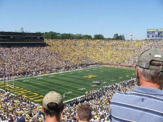 Michigan University football stadium