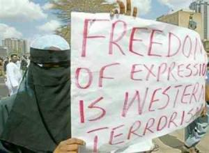 """Advocates of prohibiting """"defamation of religion"""" see free speech as """"terrorism."""""""
