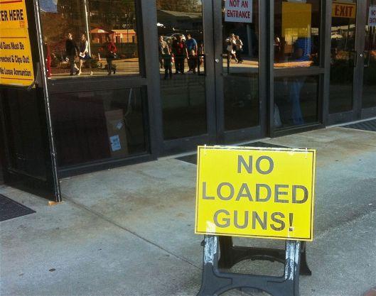 No loaded guns