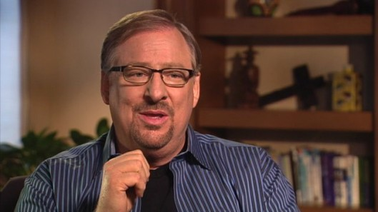 Rick Warren speaking at Georgetown on February 12, 2013
