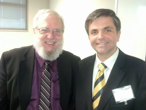 IRD President Mark Tooley with author and theologian William Abraham