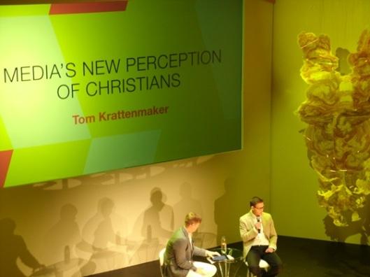 (Gabe Lyons interviews USA Today writer Tom Krattenmaker. Source: IRD)