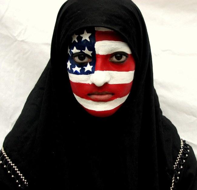 American Muslim woman