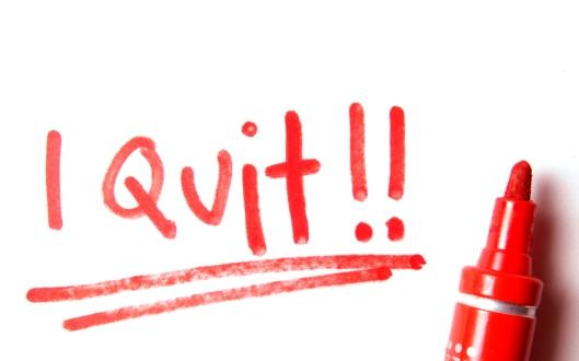Quit sign