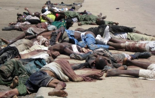 Victims of Boko Haram Violence in Maiduguri, northern Nigeria