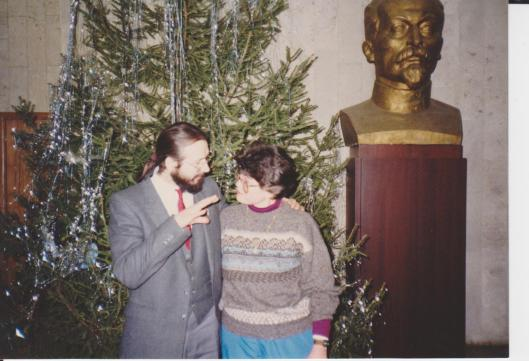 Sasha Ogorodnikov and me in Moscow 1991.