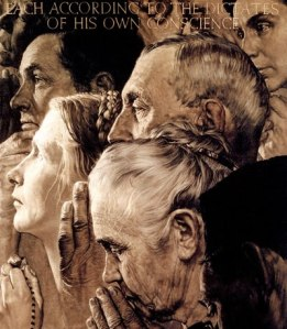 Norman Rockwell Religious Freedom