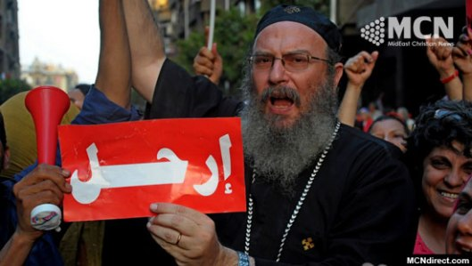 Copts participate in Egypt's anti-Muslim Brotherhood demonstrations. (Photo credit: MidEast Christian News)