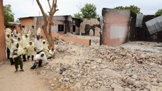 A northern Nigerian school attacked by Boko Haram (Photo credit: AFP)