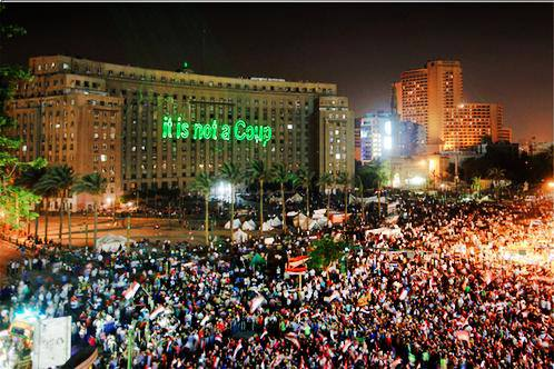 Egyptians are determined that the truth be told, even if the media won't tell it. (Photo courtesy of Cynthia Farahat)