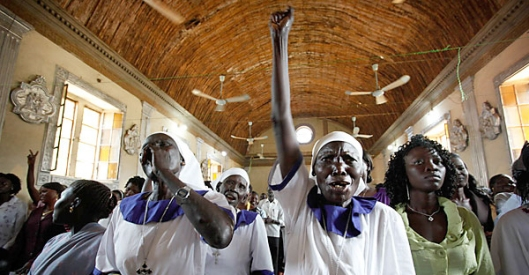 South Sudanese Christians celebrate South Sudan's freedom. (Photo credit: Urban Christian News)